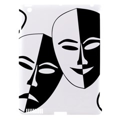 Theatermasken Masks Theater Happy Apple Ipad 3/4 Hardshell Case (compatible With Smart Cover)