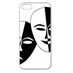 Theatermasken Masks Theater Happy Apple Seamless Iphone 5 Case (clear)