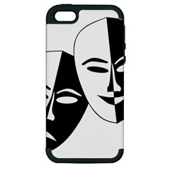 Theatermasken Masks Theater Happy Apple Iphone 5 Hardshell Case (pc+silicone) by Nexatart