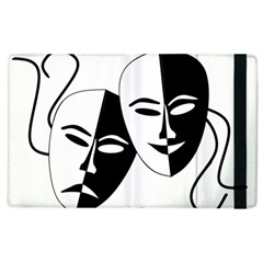 Theatermasken Masks Theater Happy Apple Ipad 3/4 Flip Case by Nexatart