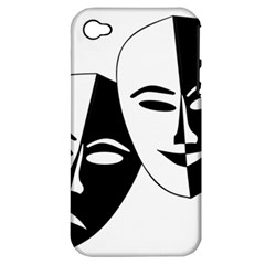 Theatermasken Masks Theater Happy Apple Iphone 4/4s Hardshell Case (pc+silicone)