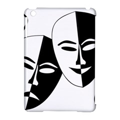 Theatermasken Masks Theater Happy Apple Ipad Mini Hardshell Case (compatible With Smart Cover) by Nexatart