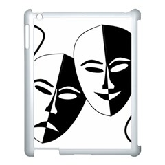 Theatermasken Masks Theater Happy Apple Ipad 3/4 Case (white)