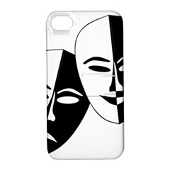 Theatermasken Masks Theater Happy Apple Iphone 4/4s Hardshell Case With Stand by Nexatart