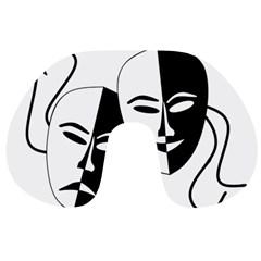 Theatermasken Masks Theater Happy Travel Neck Pillows