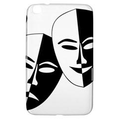 Theatermasken Masks Theater Happy Samsung Galaxy Tab 3 (8 ) T3100 Hardshell Case