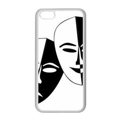 Theatermasken Masks Theater Happy Apple Iphone 5c Seamless Case (white) by Nexatart