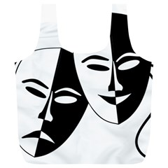 Theatermasken Masks Theater Happy Full Print Recycle Bags (l)