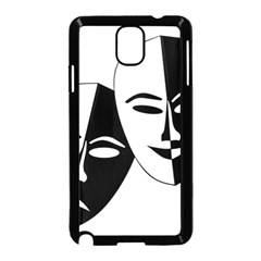 Theatermasken Masks Theater Happy Samsung Galaxy Note 3 Neo Hardshell Case (black)