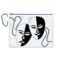 Theatermasken Masks Theater Happy Canvas Cosmetic Bag (xl) by Nexatart