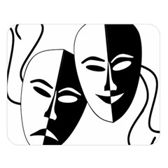 Theatermasken Masks Theater Happy Double Sided Flano Blanket (large)  by Nexatart