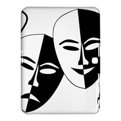 Theatermasken Masks Theater Happy Samsung Galaxy Tab 4 (10 1 ) Hardshell Case