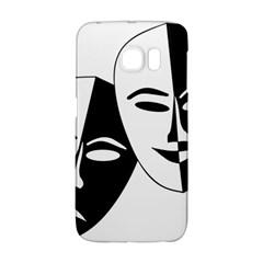 Theatermasken Masks Theater Happy Galaxy S6 Edge by Nexatart