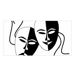 Theatermasken Masks Theater Happy Satin Shawl by Nexatart