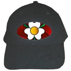 Flower Rose Glass Church Window Black Cap