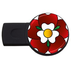 Flower Rose Glass Church Window Usb Flash Drive Round (2 Gb)