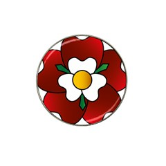 Flower Rose Glass Church Window Hat Clip Ball Marker (4 Pack) by Nexatart