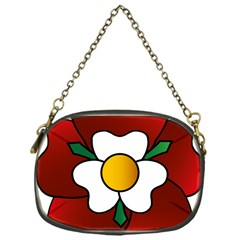 Flower Rose Glass Church Window Chain Purses (one Side)