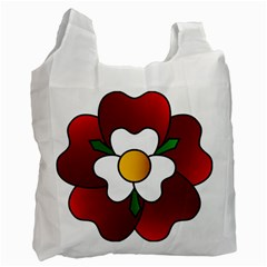 Flower Rose Glass Church Window Recycle Bag (one Side)