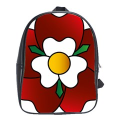 Flower Rose Glass Church Window School Bags(large)  by Nexatart