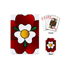 Flower Rose Glass Church Window Playing Cards (mini)  by Nexatart
