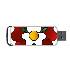 Flower Rose Glass Church Window Portable Usb Flash (two Sides) by Nexatart