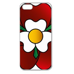 Flower Rose Glass Church Window Apple Seamless Iphone 5 Case (clear) by Nexatart
