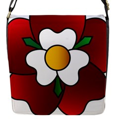 Flower Rose Glass Church Window Flap Messenger Bag (s) by Nexatart