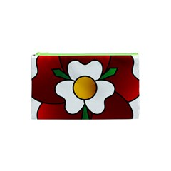 Flower Rose Glass Church Window Cosmetic Bag (xs)
