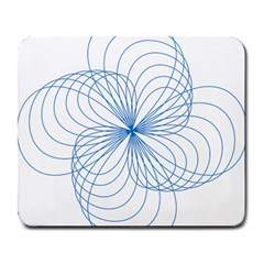 Blue Spirograph Pattern Drawing Design Large Mousepads