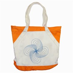 Blue Spirograph Pattern Drawing Design Accent Tote Bag by Nexatart