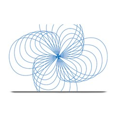 Blue Spirograph Pattern Drawing Design Plate Mats