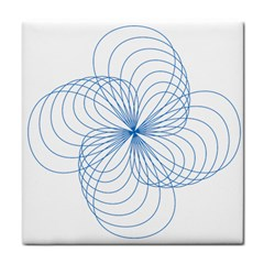 Blue Spirograph Pattern Drawing Design Face Towel