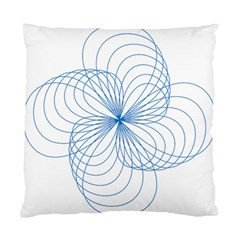 Blue Spirograph Pattern Drawing Design Standard Cushion Case (one Side)