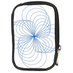 Blue Spirograph Pattern Drawing Design Compact Camera Cases by Nexatart