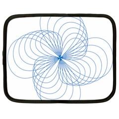 Blue Spirograph Pattern Drawing Design Netbook Case (xxl)