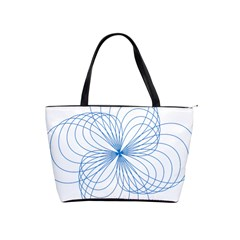 Blue Spirograph Pattern Drawing Design Shoulder Handbags by Nexatart