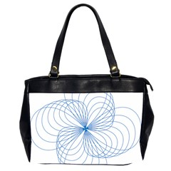 Blue Spirograph Pattern Drawing Design Office Handbags (2 Sides)  by Nexatart