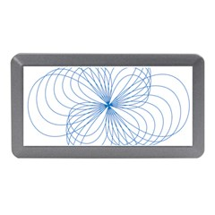 Blue Spirograph Pattern Drawing Design Memory Card Reader (mini)