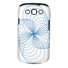 Blue Spirograph Pattern Drawing Design Samsung Galaxy S Iii Classic Hardshell Case (pc+silicone)