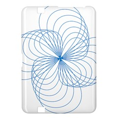 Blue Spirograph Pattern Drawing Design Kindle Fire Hd 8 9  by Nexatart