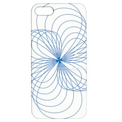 Blue Spirograph Pattern Drawing Design Apple Iphone 5 Hardshell Case With Stand by Nexatart