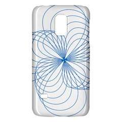 Blue Spirograph Pattern Drawing Design Galaxy S5 Mini