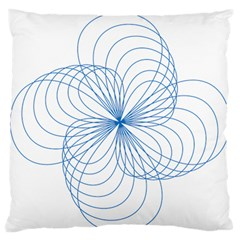 Blue Spirograph Pattern Drawing Design Standard Flano Cushion Case (two Sides) by Nexatart