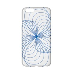 Blue Spirograph Pattern Drawing Design Apple Iphone 6/6s Hardshell Case by Nexatart