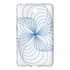 Blue Spirograph Pattern Drawing Design Samsung Galaxy Tab 4 (8 ) Hardshell Case  by Nexatart