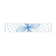 Blue Spirograph Pattern Drawing Design Flano Scarf (mini)