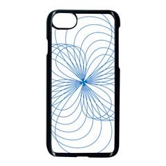Blue Spirograph Pattern Drawing Design Apple Iphone 7 Seamless Case (black) by Nexatart