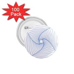 Spirograph Pattern Drawing Design 1 75  Buttons (100 Pack)