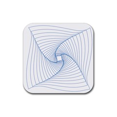 Spirograph Pattern Drawing Design Rubber Square Coaster (4 Pack)  by Nexatart